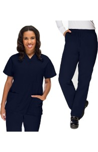 VietNam Halimex medical fashionable uniforms company receive cheap scrubs for sale a hospital uniform blue for a doctor, a large, patient number of workers