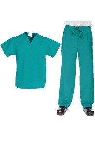 VietNam Halimex medical fashionable uniforms company receive halimex stretch scrubs a hospital uniform blue for a doctor, a large, patient number of workers