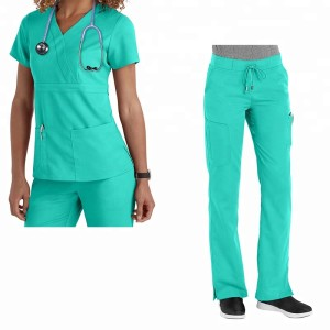 nurses scrubs sets uniform unisex